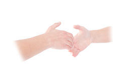 Ghostly handshake Stock Image