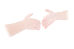 Ghostly handshake Royalty Free Stock Photos