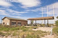 Ghostly Outpost of Route 66 Royalty Free Stock Photo