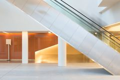 Ghostly people on an escalator stock photography