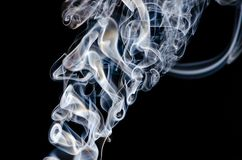 Ghostly white smoke with swirls and curls, delicate spooky impression