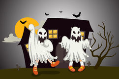 Ghosts. Illustration of ghosts in the dark night Royalty Free Stock Photo