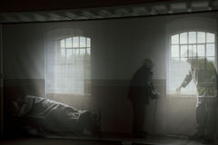Ghosts. Ghostly Scene in a Derbyshire Workhouse Stock Photos