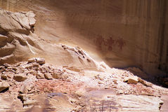 Ghosts of Centuries Past. Indian rock artists have left records and drawings on the walls of nature for millennia. Utah has some of the best examples of Indian stock images