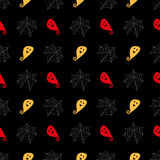 Ghosts and cobwebs pattern Stock Images