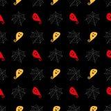 Ghosts and cobwebs pattern. Seamless pattern with ghosts and cobwebs vector background vector illustration