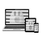 Ghosts on digital devices screens Stock Photography