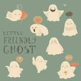 Ghosts emoticon halloween set Royalty Free Stock Photography