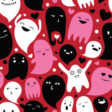 Ghosts family seamless pattern Royalty Free Stock Images