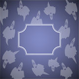 Ghosts frame. Lilac color in vector Stock Photo