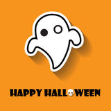 Ghosts halloween icon Royalty Free Stock Images