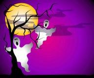 Ghosts Halloween Night Scene