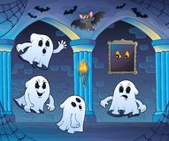 Ghosts in haunted castle theme 3 Royalty Free Stock Photo