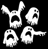 Ghosts Outline White Royalty Free Stock Images