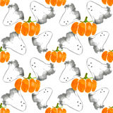 Ghosts and pumpkins Stock Photography