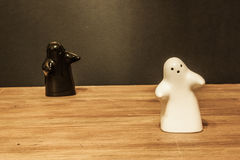 Ghosts salt cellar and pepper pot Royalty Free Stock Image