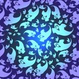 Ghosts Seamless pattern stock illustration