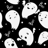 Ghosts Seamless Pattern, pattern in cartoon style. Stock Photos
