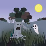 Ghosts and Tree Stock Photography