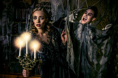 Ghosts and vampires Stock Images