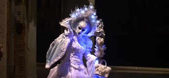 Ghosts in Venice. One of the most beautiful carnivals in the world in the city, Venice, the most beautiful in the world Royalty Free Stock Photography