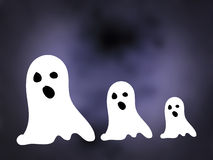 Ghosts. White ghosts in the night Stock Images