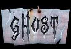 Ghostwritten на знаке Стоковое Изображение