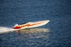 Ghosty速度小船横穿 免版税库存图片