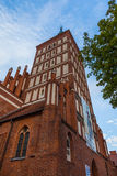 Ghotic Cathedral in Olsztyn, Poland Royalty Free Stock Photos