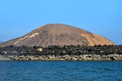 Ghoubet beach, Devils Island Ghoubbet-el-Kharab Djibouti East Africa. The Ghoubbet al-Kharab & x28;قبة الخراب, & x22;the Gulf of the Demons& x22;& x29 Royalty Free Stock Images
