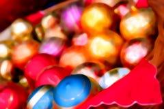 ghristmas нерезкости baubles Стоковое Изображение