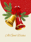 Ghristmas background. Festive  bells Royalty Free Stock Images