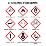 Ghs-Gefahrn-pictoframs Stockbild