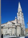 Ghuirlandina and modena cathedral Stock Image