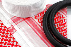 Ghutrah along with the agal and skull cap are usually worn by men as a head-dress in Arab Countries Royalty Free Stock Photography