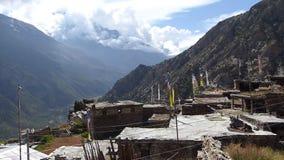 Ghyaru-Dorf in Nepal stock video footage