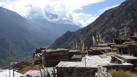 Ghyaru village in Nepal stock video footage