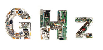 GHz electronic Royalty Free Stock Image