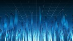 Giù in Cyberspace 02 illustrazione di stock