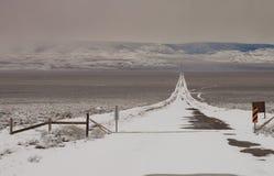 Giù la ferrovia ghiacciata Fotografia Stock Libera da Diritti