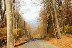 Giù la strada della montagna Fotografia Stock