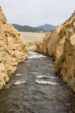 Giù lo spillway Fotografia Stock