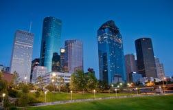 Giù città Houston Fotografia Stock Libera da Diritti