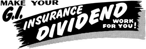 GI Insurance Dividend Ad Stock Images