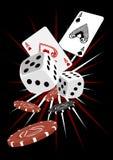 giń karty hazardu Zdjęcia Royalty Free
