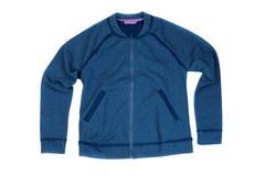 Giacca blu Isolato su bianco Fotografie Stock Libere da Diritti