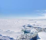 Giacimenti di ghiaccio antartici Fotografie Stock