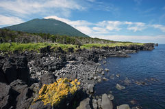 Giacimenti di lava Iturup. Immagine Stock Libera da Diritti
