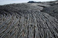 Giacimenti di lava sulle isole di Galapagos Fotografie Stock