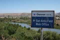 Giacimenti di petrolio del Chevron Fotografie Stock